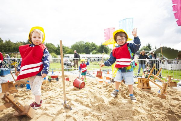 Cousing Matthew (2.5) and Daniel (3.5) are having the best day at Playstival, the spectacular festival of play and music for kids and their parents. The Festival returns for its second year on Saturday August 10th and Sunday August 11th 2019 at Dundrum's Airfield Estate and Farm.