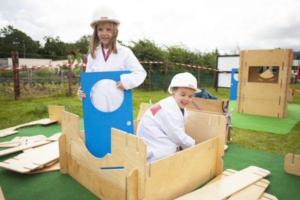 Lilian, 6 and Noah, 3 are getting giddy at The Architect's Office at Playstival, the spectacular festival of play and music for kids and their parents. The festival returns for its second year on Saturday August 10th and Sunday August 11th 2019 at Dundrum's Airfield Estate and Farm.